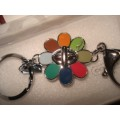 COACH TURNLOCK COLOR FLOWER KEYCHAIN