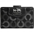 COACH MADISON OP ART DOTTED ZIP WALLET 45121P