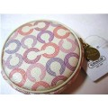 COACH WAVERLY ROUND COIN PURSE 44465