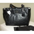 COACH MIA EMBOSSED LEATHER BLACK TOTE 15731