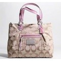 กระเป๋า COACH POPPY PINK LUREX SWEET-PINK TOTE 16289