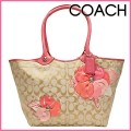 กระเป๋าสะพาย COACH SIGNATURE BLEEKER FLORAL TOTE BAG 16276