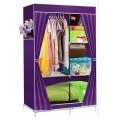 ตู้เสื้อผ้า ตู้เสื้อผ้าพลาสติก ราคาตู้เสื้อผ้า tu00001-3 ตู้เสื้อผ้า index 2 บล็อค สีม่วง