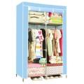 ตู้เสื้อผ้า ตู้เสื้อผ้าพลาสติก ราคาตู้เสื้อผ้า tu00003-3 ตู้เสื้อผ้า index 2 บล็อค สีฟ้า