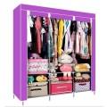 ตู้เสื้อผ้า ตู้เสื้อผ้าพลาสติก ราคาตู้เสื้อผ้า tu00004-3 ตู้เสื้อผ้า index 3 บล็อค สีม่วง