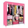 ตู้เสื้อผ้า ตู้เสื้อผ้าพลาสติก ราคาตู้เสื้อผ้า tu00004-4 ตู้เสื้อผ้า index 3 บล็อค สีชมพู