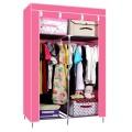 ตู้เสื้อผ้า ตู้เสื้อผ้าพลาสติก ราคาตู้เสื้อผ้า tu00003-4 ตู้เสื้อผ้า index 2 บล็อค สีชมพู