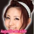 Kamipita  hair- band dot white/ คามิพิตะ คาดผม สีขาวลายจุดดำ