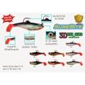 เหยื่อปลอม Surecatch ปลายาง 3D Eye Shad 2.5