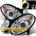 ไฟหน้าโปรเจคเตอร์ BENZ E-CLASS W211 03-07 ขาว LED ยาว