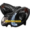 ไฟหน้าโปรเจคเตอร์ BENZ E-CLASS W211 03-07 ดำ LED ยาว