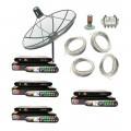 ชุดจานดาวเทียม THAISAT 150 + ID-900 + RECEIVER GMM Z (จีเอ็มเอ็ม แกรมมี่)