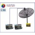 ติดตั้งจานดาวเทียม PSI OKX O2  THAISAT GMMZ HD LITE IPM HD PRO ลำพูน เชียงใหม่