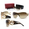 SALVATORE FERRAGAMO แว่นตากันแดดข้อต่อ Crystal หรู Made in Italy +กล่อง 2 ชั้น+ผ้าเช็ดแว่น+การ์ด ใหม