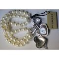 Burberry Womens Pearl Bracelet Charm Watch BU5206