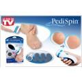 เครื่องขัดส้นเท้าไฟฟ้า Pedispin ขจัดส้นเท้าแตก เซลล์ผิวที่ตายแล้วและความหยาบกร้านให้หมดไป