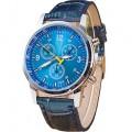Best นาฬิกาข้อมือชาย สีน้ำเงิน สายหนังพียู