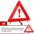 Car Trouble Warning Board Safety Warning Folding Reflective Triangle Parking Sign (ซื้อ 1 แถม 1)