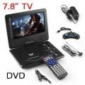 ครื่องเล่น DVD7.8 นิ้ว แบบพกพา  TV SDCARD USB GAME REMOTE