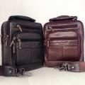 กระเป๋าสะพายหนังแท้หูหิ้วมีสายสะพายยาวถอดสายได้ขนาด ipad-mini