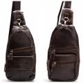 กระเป๋าเป้ หนังแท้ ทรงยาวสีน้ำตาลใส่ ipad mini