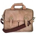 กระเป๋าสะพายหนังแท้เอกสารA4สีฟอกงาเข็มขัดคู่