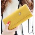 dressuphouse รหัส t963 กระเป๋าสตางค์แฟชั่นสีเหลือง ทรงเรียบหรู