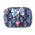 กระเป๋า 3ซิป ผ้ายีนส์ ห้อยตุ้งติ้งหัวใจ