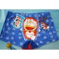 กางเกง boxer ลายการ์ตูนโดเรมอน สำหรับเด็กอายุ 3-7 ปี ขึ้นอยู่กับขนาดเด็ก ผ้ายืดเนื้อดีใส่สบาย