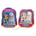 กระเป๋าเด็ก : Frozen school bag size medium สีชมพูเข้ม ทำจากวัสดุคุณภาพดี ใส่หนังสือเรียนได้ ขนาด 33