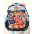 กระเป๋าเด็ก : 3-D Bag กระเป๋าสะพายหลังสีแดง-กรมท่า ลาย Spiderman 3D ตัวนูน ขนาด 30*40*18 ซม.