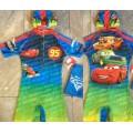 ลิขสิทธิ์แท้ ชุดว่ายน้ำ bodysuit Car Mcqueen คาร์ ซิปหน้า แถมถุงผ้า