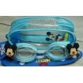 แว่นตาว่ายน้ำ สำหรับเด็ก ลาย มิกกี้ Mickey ปรับสายได้ค่ะ
