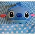 หมอนผ้าห่ม สติช (Stitch) ใช้เป็นหมอนหนุน หมอนอิง หรือผ้าห่มได้ เหมาะสำหรับพกพา ด้านในเป็นผ้าสำลี