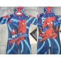ลิขสิทธิ์แท้ ชุดว่ายน้ำ bodysuit แขนสั้น สไปเดอร์แมน(Spiderman) ซิปหน้า แถมถุงผ้า