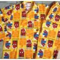 ลิขสิทธิ์แท้ ชุดนอน ผ้าคอตต้อน สไปเดอร์แมน(Spiderman) ของ TT แขนยาวขายาว ไซด์ 10-12 อก 40 ยาว 24 เอ