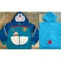 ลิขสิทธิ์แท้ แจ็กเก็ต แฟนซี มีฮู้ด โดเรม่อน Doraemon ผ้ายืด เนื้อคอตต้อน ราคาป้าย 1260บ.