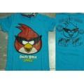 ลิขสิทธิ์แท้ เสื้อยืด แขนสั้น ผ้าคอตต้อน angry birds (ตัวหนังสือ angry birds เรืองแสงในที่มืดค่ะ)