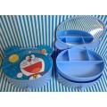 กล่องพลาสติก ใส่เครื่องประดับ ของกระจุ๊ก กระจิ๊ก มีกระจกในตัว ขนาด 6x5x3 นิ้ว ลาย Doraemon โดเรม่อน
