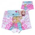 กางเกงในเด็ก : กางเกงใน boxer ผ้าคอตตอนยืด 100 ลายแพ็คคู่คละสีคละลาย