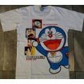 ลิขสิทธิ์แท้ เสื้อยืด แขนสั้น ผ้าคอตต้อน ลาย โดเรม่อน Doraemon สำหรับเด็กโตหรือผู้ใหญ่