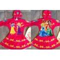 ลิขสิทธิ์แท้ ชุดว่ายน้ำ bodysuit ซิปหน้า แขนสั้น Princess มีถุงผ้า พร้อมหมวกให้ค่ะ