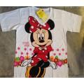 ลิขสิทธิ์แท้ cool planet เสื้อยืด แขนสั้น เนื้อคอตต้อน ลาย มินนี่เม้าส์ Minnie mouse