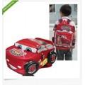 กระเป๋าสะพายหลังเด็กคาร์ สีแดงสวย ขนาด 40 X 30 X 10 cm.  ลายน่ารักฝุด ๆ จ้า เหมาะกับเด็ก 3- 6  ปี ใบ