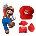 หมวก Mario มาริโอ้  ทรงเห็ดด้านหลังเป็นยางยืดเล็ก ๆ เพื่อให้รัดกับท้ายทอย กันให้หมวกไม่หลุดง่ายครับ