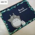 ซองซิป ผ้าเนื้อหนา อันใหญ่ A4 ขนาด 13*10 นิ้ว ลาย โตโตโร่ (Totoro)