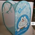 ตะกร้าผ้า ถังผ้าตาข่าย พับได้ ไว้ใส่ตุ๊กตา เสื้อผ้า ได้ค่ะ สูง 22 นิ้ว ลาย โดเรม่อน (Doraemon)
