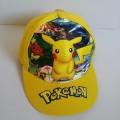 หมวกแก๊ป ปีกาจู pikachu โปเกม่อน pokemon ด้านหลังเป็นเมจิกเทป ปรับได้ 1-2 นิ้วค่ะ รูปปีกาจู เป็นสกรี
