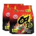 โอโตกิ ยวล ราเม็ง 120 กรัม แพ็ค 5  เซ็ท 2 แพ็ค Ottogi Yeul Ramyon Pack 5  Value  Set    2 Packs