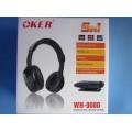 หูฟังไร้สาย พร้อมไมโครโฟน สำหรับเล่น web chat หรือต่อฟังเสียงทีวี (มีวิทยุFMในตัว)